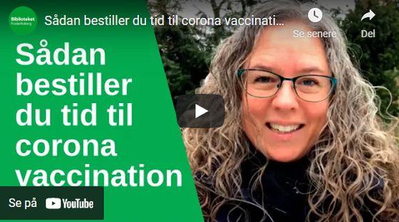 Link til video på Youtube om at bestille tid til vaccination