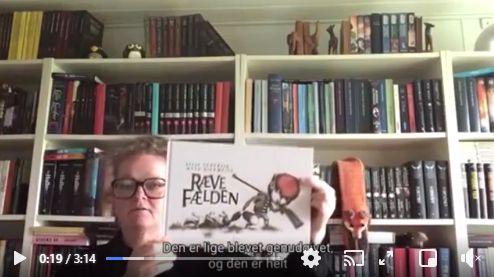 Link til Facebook hvor børnebibliotekar Jette fortæller om bogen Rævefælden af Lilja Scherfig