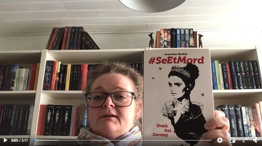 Link til Facebook hvor børnebibliotekar Jette fortæller om bogen #SEETMORD