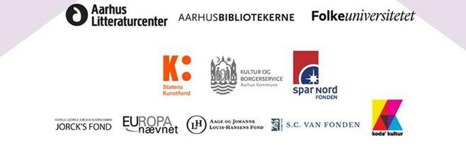 Logoer til partnere til festivallen Literature/change