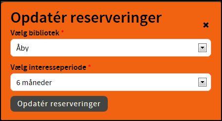 opdatering af reservering