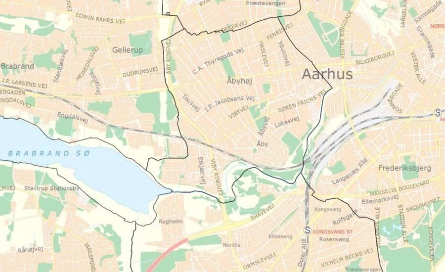 Kort: Kortet viser, hvor kommunegrænsen gik i 1969