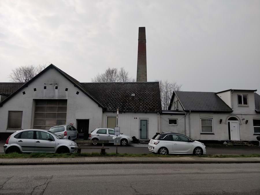Billede af andelsmejeriet i Lystrup