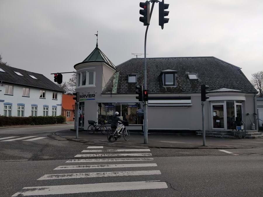 Billede af farvehandlen i Lystryp