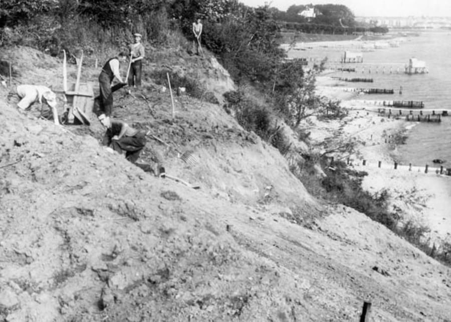 billede viser kystsikringsarbejde ved Varna