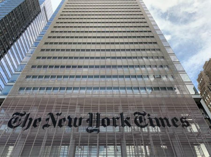 New York Times facade