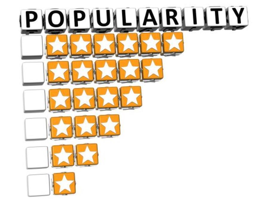 Grafik med stjerner