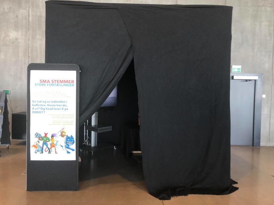 Indgang til installation i børnebiblioteket