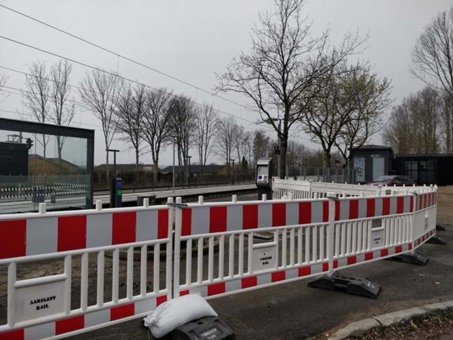 Billede af letbanen i Lystrup