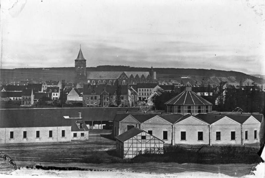 Billede af Aarhus ca. 1865