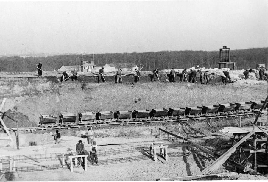 billede af anlægsarbejde på Aarhus Væddeløbsbane