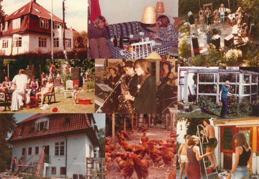 Billeder fra kollektiver i Åbyhøj gennem 1970'erne