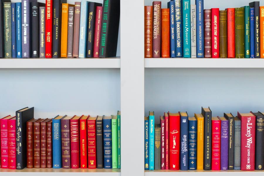 Bøger på hylder